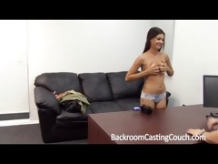 creampie 8 teen on casting bed