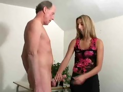 cute beauty jerks him off into her shoe !