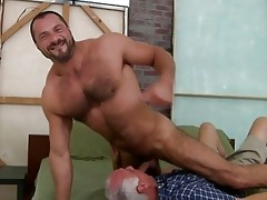hot old man is swallowing deep a studs inflexible