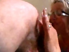 grandma sucks booty to juvenile dude