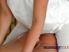 massage rooms small youthful gal rides biggest