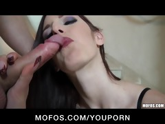 juvenile lustful dark brown floozy ass-fucked
