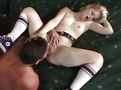 youthful blonde charlotte stokely has her