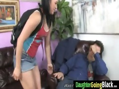 juvenile daughter with admirable butt drilled by