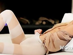 beauty plays with lengthy sex-toy