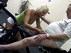 hawt blond vixen shags with smutty old fart