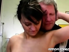 precious beauty getting gangbanged by old perv