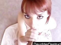 daughter sucks daddys knob wonderful