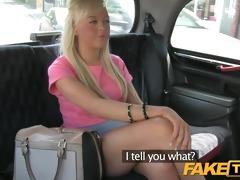 faketaxi youthful blond takes money for backseat