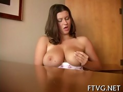 gal plays with sex toys