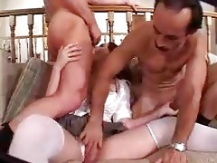 stepfather copulates youthful gal