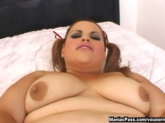 fatty with ponytails cockriding