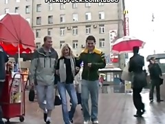 youthful golden-haired drilled from mcdonalds on