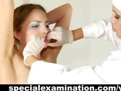 juvenile blond and rude gynecologist