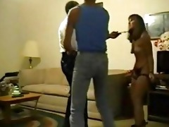 spouse forces wife to fuck an old dark dude with