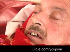 juvenile angel pussy-nursing old guy