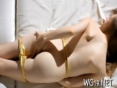 hotty plays with glass toy