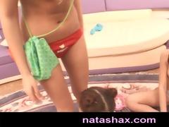 natasha shy and sasha blonde blindfolded