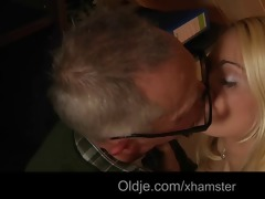 fortunate old fart stuff his old cock into a hot