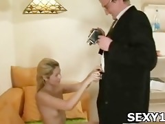 pretty glamorous cutie receives crotch licked