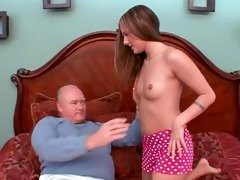 juvenile schoolgirl gived pervert old chap