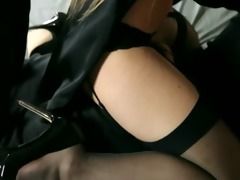 youthful beauties in valuable dress gagging sex
