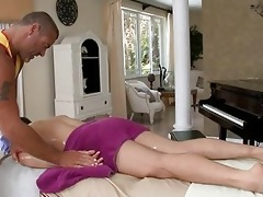 massaging juvenile hard cock