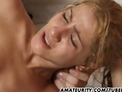 hawt blond non-professional girlfriend anal with