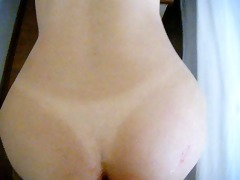 doggie fuck and then cum on booty of menstrating