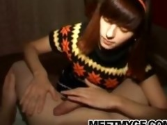 hawt dilettante legal age teenager pov fellatio