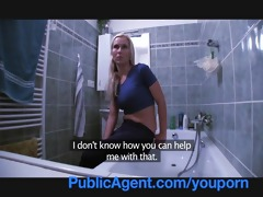 publicagent fit youthful playgirl needs a plumber