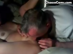 granddad giving grandma great oral-stimulation sex