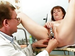perverted old lady acquires her vagina examined