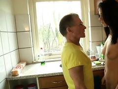 spoiled youthful cutie fucking old pecker in the