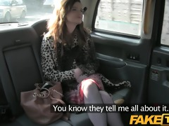 faketaxi red head acquires drilled throughout the