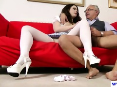 youthful european slut acquires ravaged by old