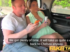 faketaxi fun time couple in backseat taxi