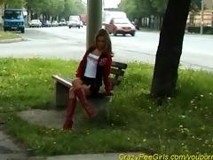 juvenile nubiles pissing in public