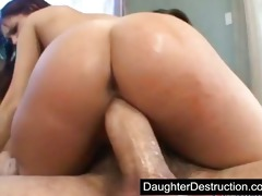 latin babe daughter fucked hard