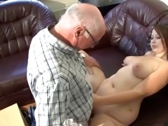 overweight german cutie drilled by mature dude