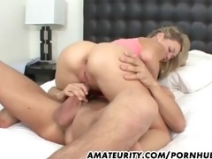 blond dilettante girlfriend enjoys a large cock
