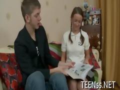 beautiful legal age teenager rides biggest shlong