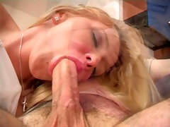 youthful golden-haired likes hard anal