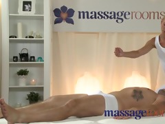 massage rooms concupiscent youthful golden-haired