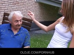 granddad gets raunchy apology from nasty teeny