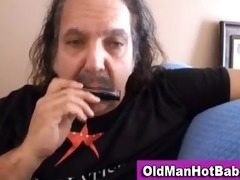 old lad oral by sexy younger hottie