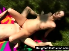 youthful gal pounded hard by large weenie