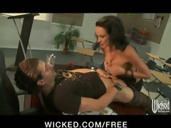 sexy busty school teacher alektra punishes her