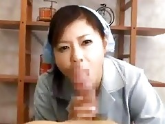 breasty cleaning lady giving oral stimulation