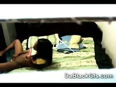 spy webcam caught youthful black beauty